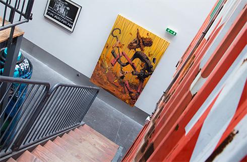 Escalier du studio Darman